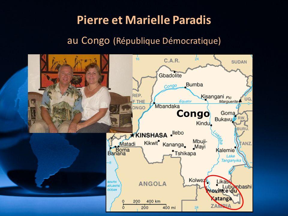 Pierre et Marielle Paradis au Congo (République Démocratique) Congo Province du Katanga