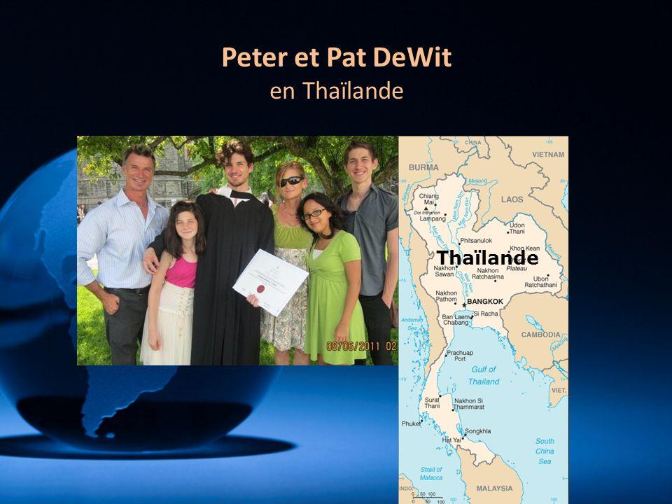 Thaïlande Peter et Pat DeWit en Thaïlande