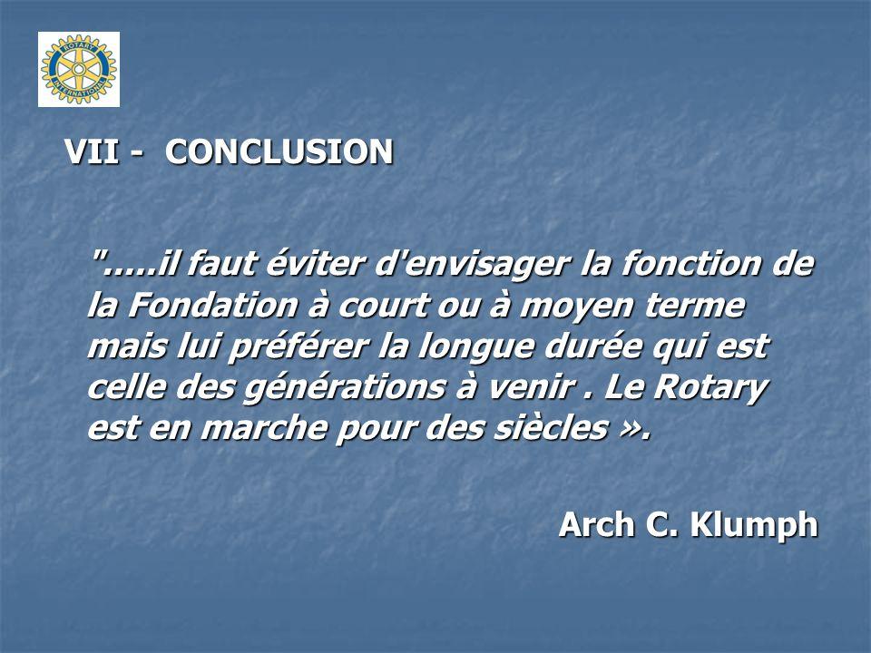 VII - CONCLUSION VII - CONCLUSION