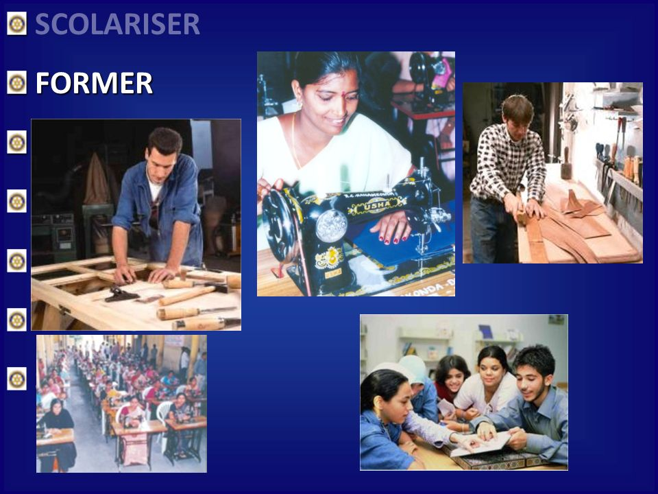 SCOLARISER FORMER FORMER SOIGNER NOURRIR ENCOURAGER PARTAGER SECOURIR