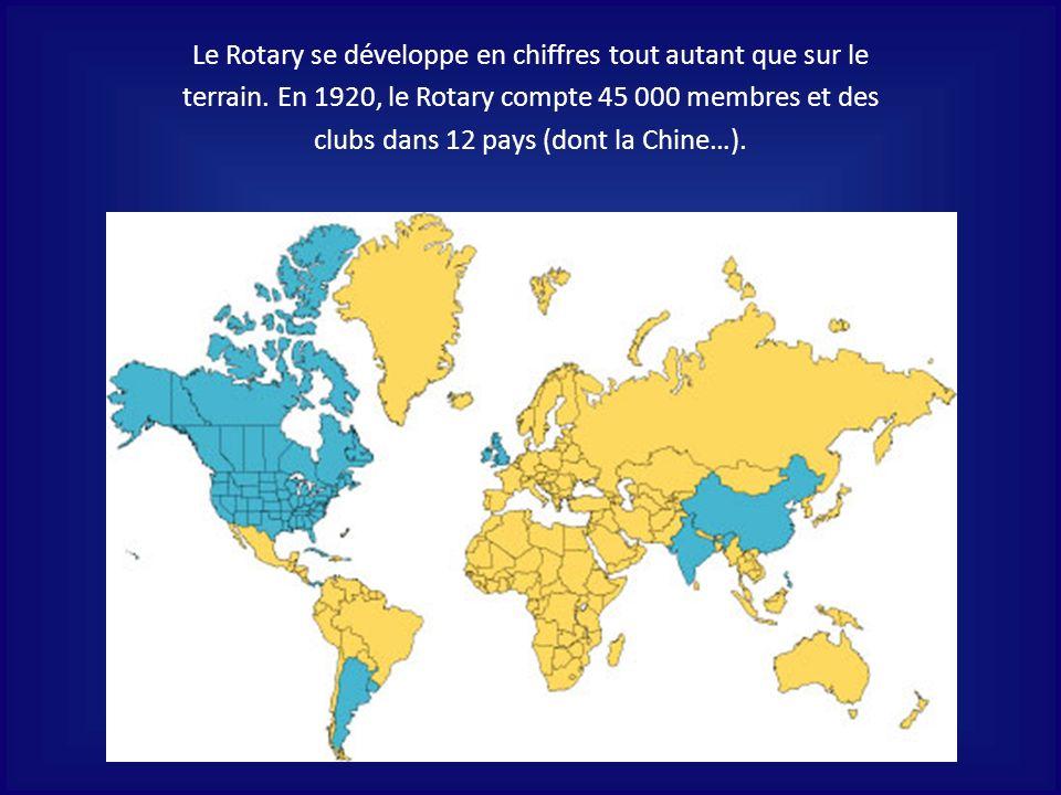Le Rotary se développe en chiffres tout autant que sur le terrain.