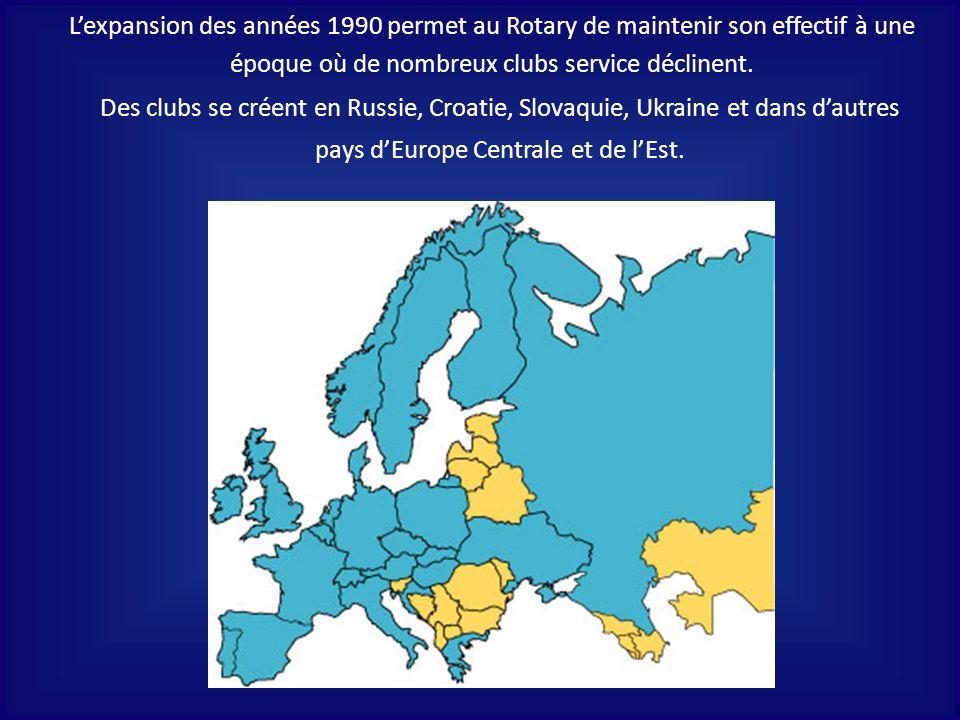 Des clubs se créent en Russie, Croatie, Slovaquie, Ukraine et dans dautres pays dEurope Centrale et de lEst. Lexpansion des années 1990 permet au Rota