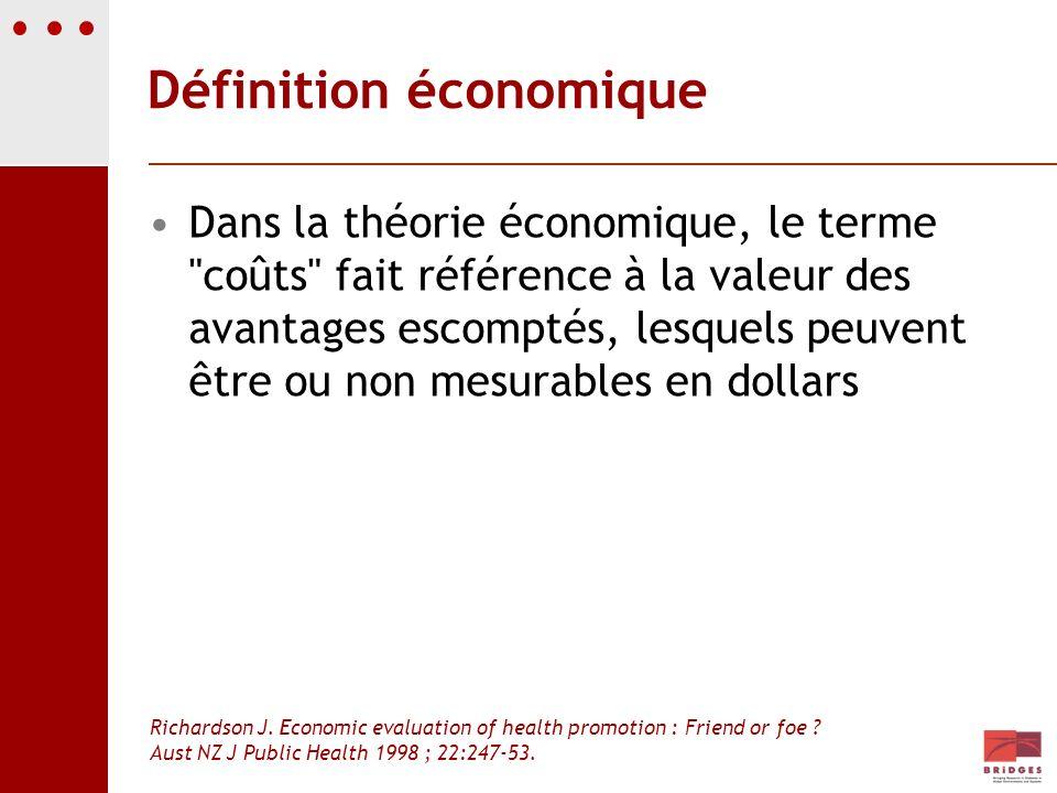 Définition économique Dans la théorie économique, le terme