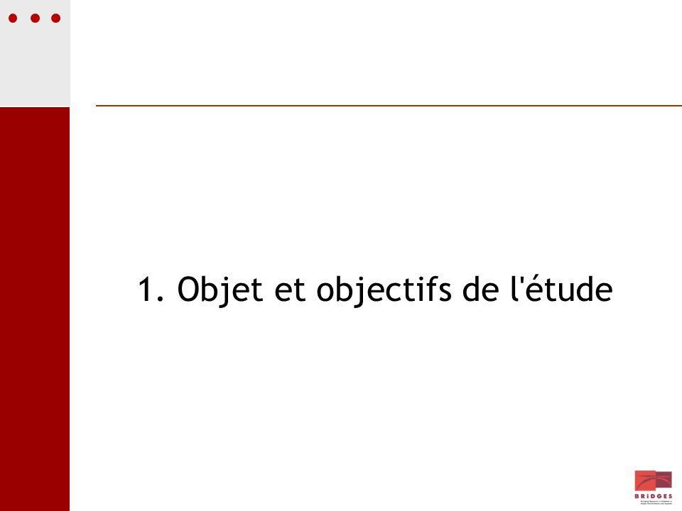 1. Objet et objectifs de l'étude