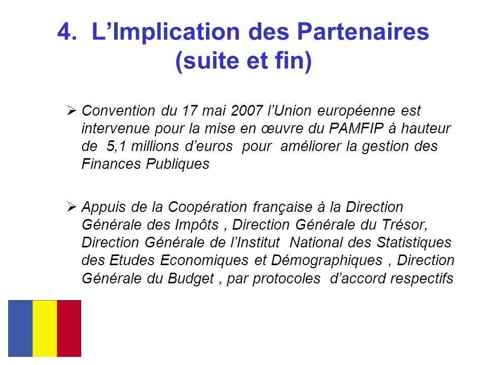 4. LImplication des Partenaires (suite et fin) Convention du 17 mai 2007 lUnion européenne est intervenue pour la mise en œuvre du PAMFIP à hauteur de