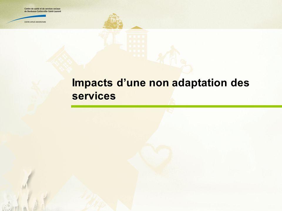 Impacts dune non adaptation des services