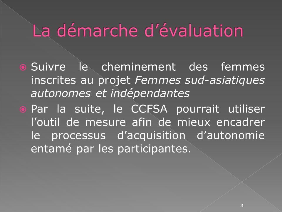 Ce concept permet détablir une jonction effective entre les compétences acquises dans le pays dorigine et les compétences quelles sont appelées à développer tout au long de leur processus dintégration dans la société québécoise.
