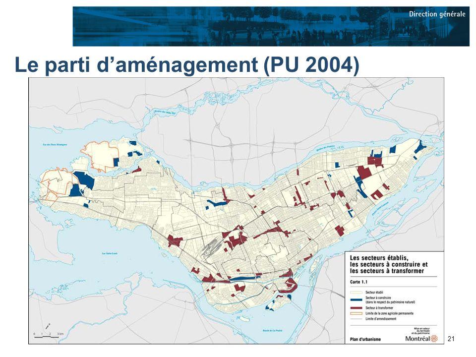 21 Le parti daménagement (PU 2004)