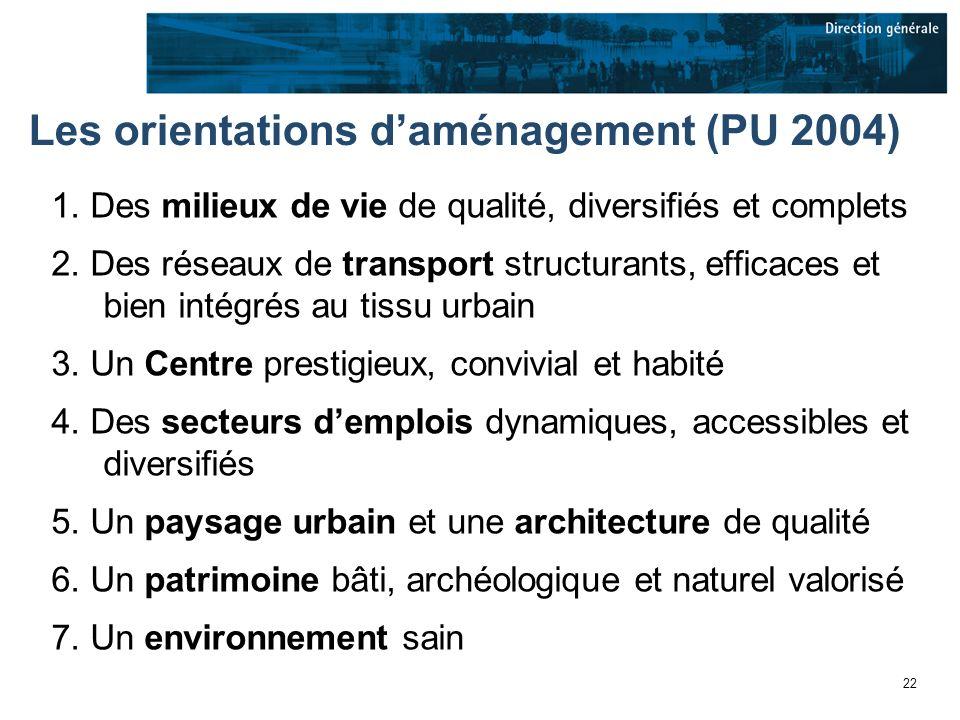 22 Les orientations daménagement (PU 2004) 1.