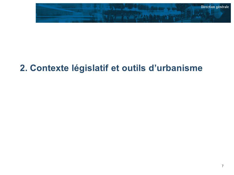 8 Lassise juridique de laménagement au Québec Loi sur laménagement et lurbanisme (LAU) -1979 –Introduit le concept de municipalités régionales de comté (MRC) –Sarticule autour de deux échelles de planification (régionale et locale) –Principes Laménagement est une responsabilité politique qui est partagée par plusieurs instances et qui fait appel à la concertation des acteurs et à lensemble des citoyens –Actuellement en révision Loi sur laménagement durable du territoire et de lurbanisme (LADTU)