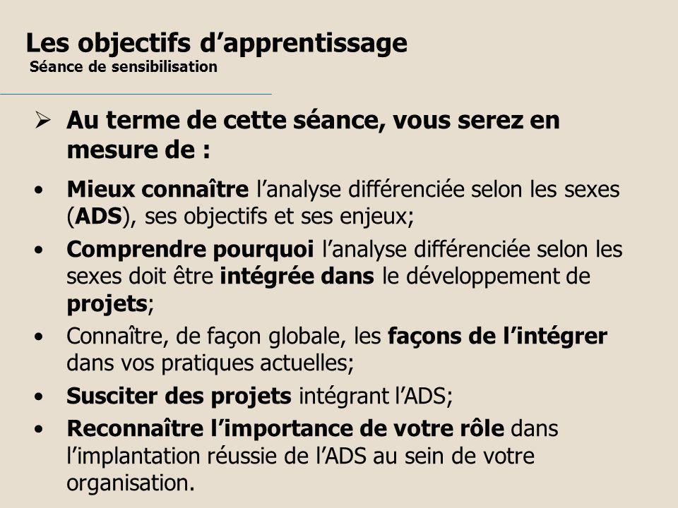 Aux fins de cet exercice, le terme projet peut correspondre à : une loi un règlement une politique un plan daction un programme une mesure un service Intégration de lADS dans un projet