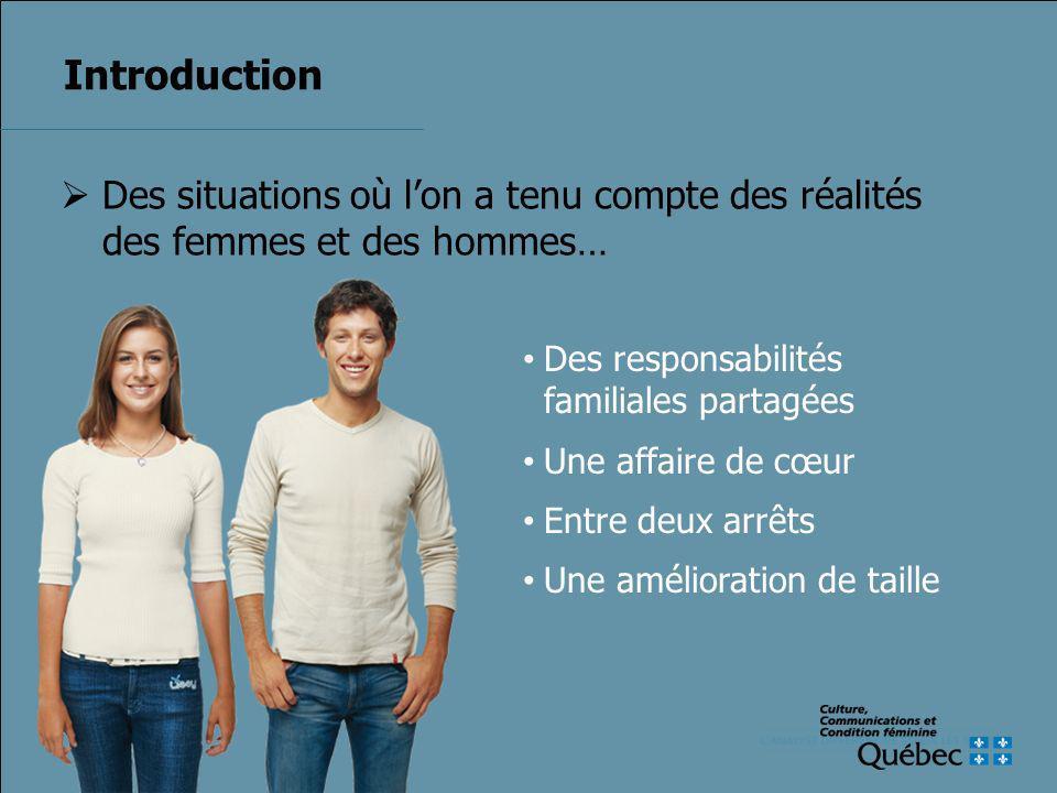 Quelques croyances 1.Au Québec, légalité de droit entre les femmes et les hommes est acquise.