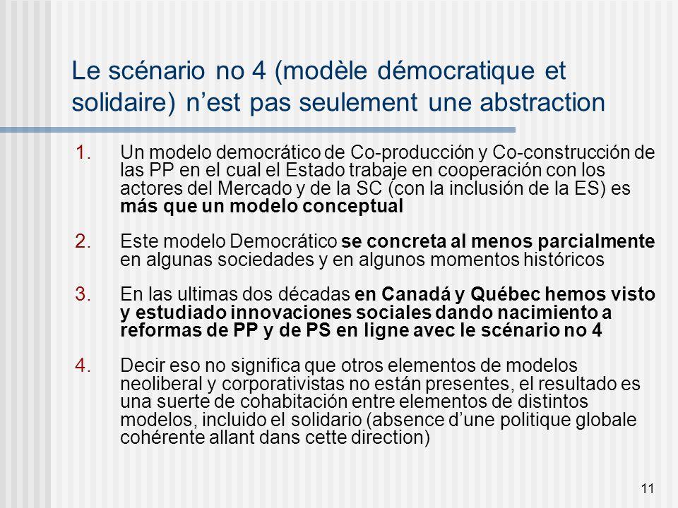 11 Le scénario no 4 (modèle démocratique et solidaire) nest pas seulement une abstraction 1.