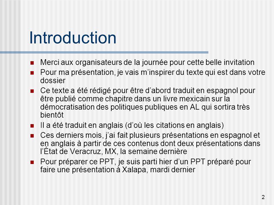 3 Plan de la présentation 1.Introduction 2.