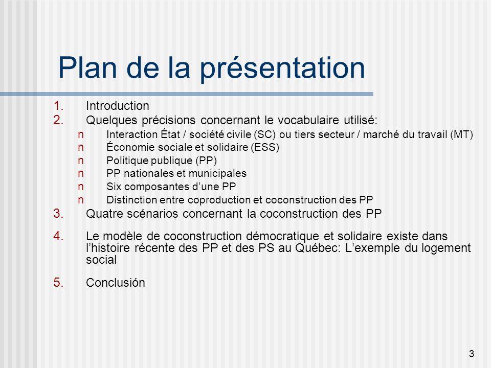 3 Plan de la présentation 1. Introduction 2.