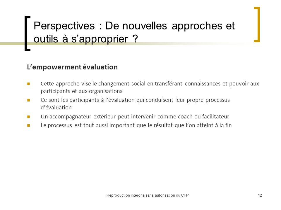 Perspectives : De nouvelles approches et outils à sapproprier .