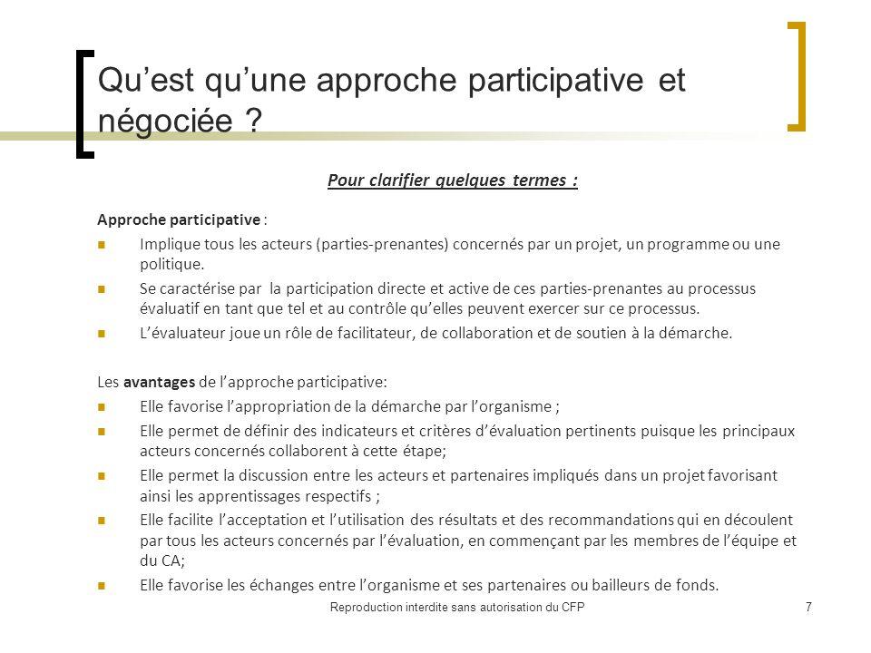 Quest quune approche participative et négociée .