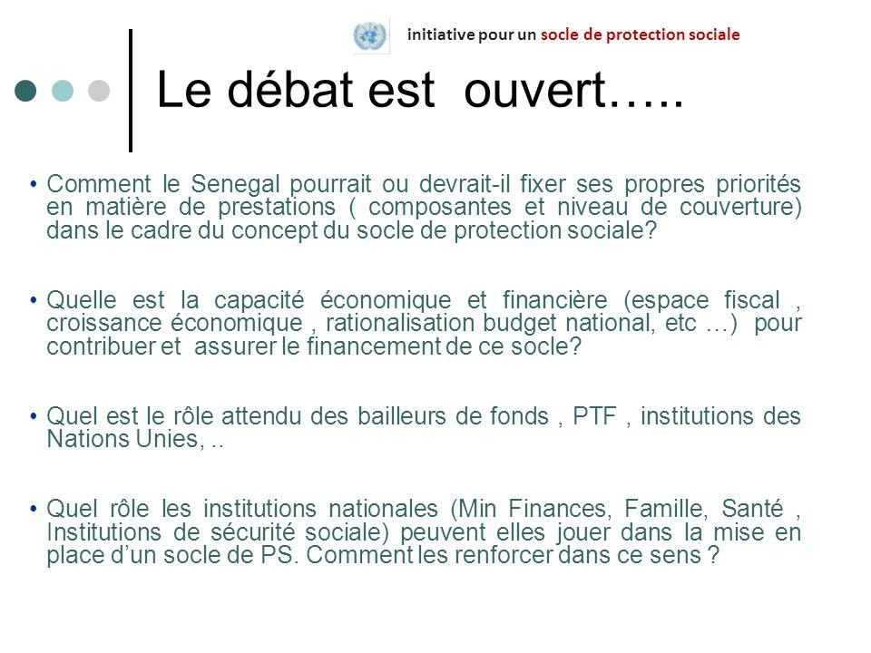 Le débat est ouvert….. Comment le Senegal pourrait ou devrait-il fixer ses propres priorités en matière de prestations ( composantes et niveau de couv
