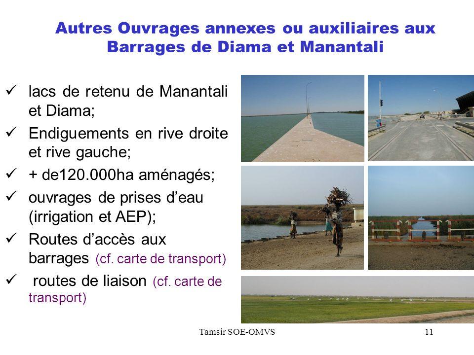 Tamsir SOE-OMVS11 Autres Ouvrages annexes ou auxiliaires aux Barrages de Diama et Manantali lacs de retenu de Manantali et Diama; Endiguements en rive