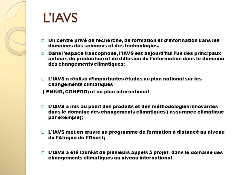 LIAVS LIAVS Un centre privé de recherche, de formation et dinformation dans les domaines des sciences et des technologies. Dans lespace francophone, l