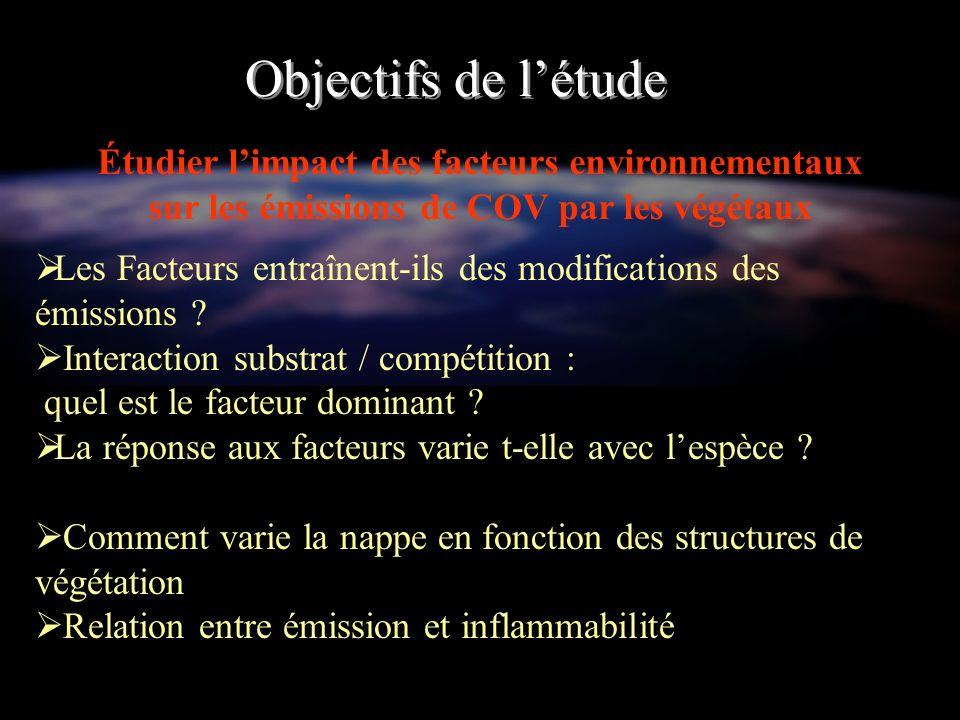 Matériel et méthodes Choix des espèces étudiées (émission + inflammabilité) : Espèces répandues en Provence et stratégies démission différentes Cistus albidus L.