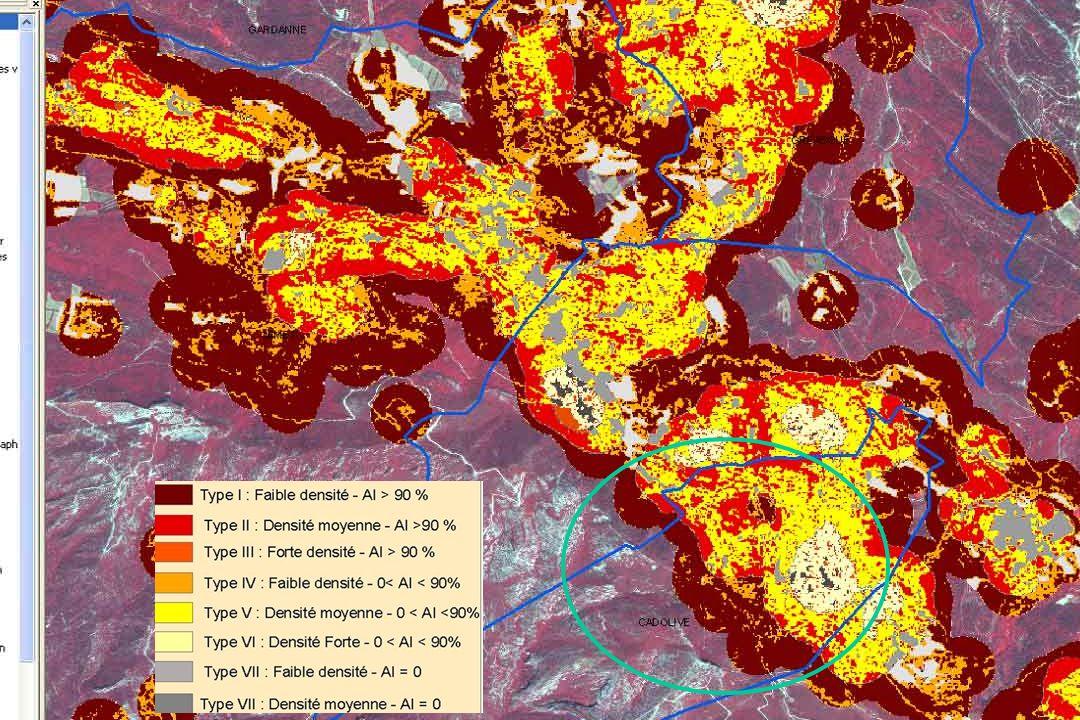 GIS Incendies de Forêt, Aix-en-Provence, 3 juin 20057