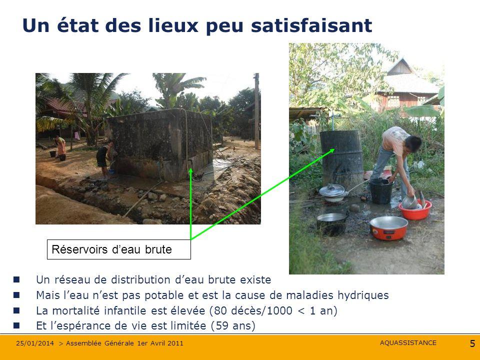 AQUASSISTANCE 25/01/2014 > Assemblée Générale 1er Avril 2011 16 Les travaux de GC démarrent en 2008 Les stations de filtration …