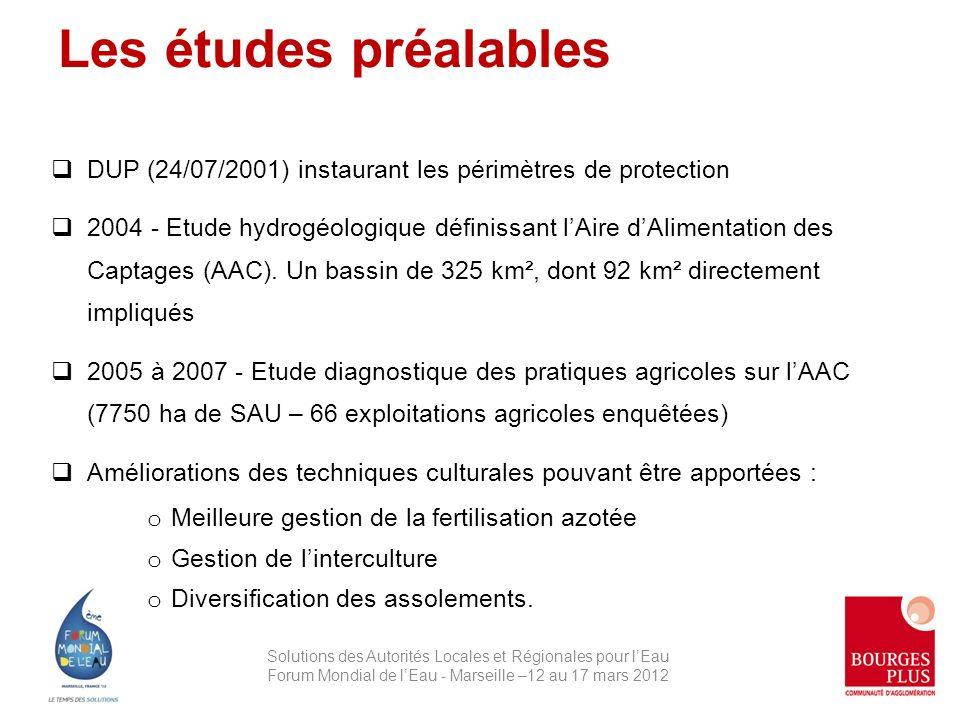 DUP (24/07/2001) instaurant les périmètres de protection 2004 - Etude hydrogéologique définissant lAire dAlimentation des Captages (AAC).