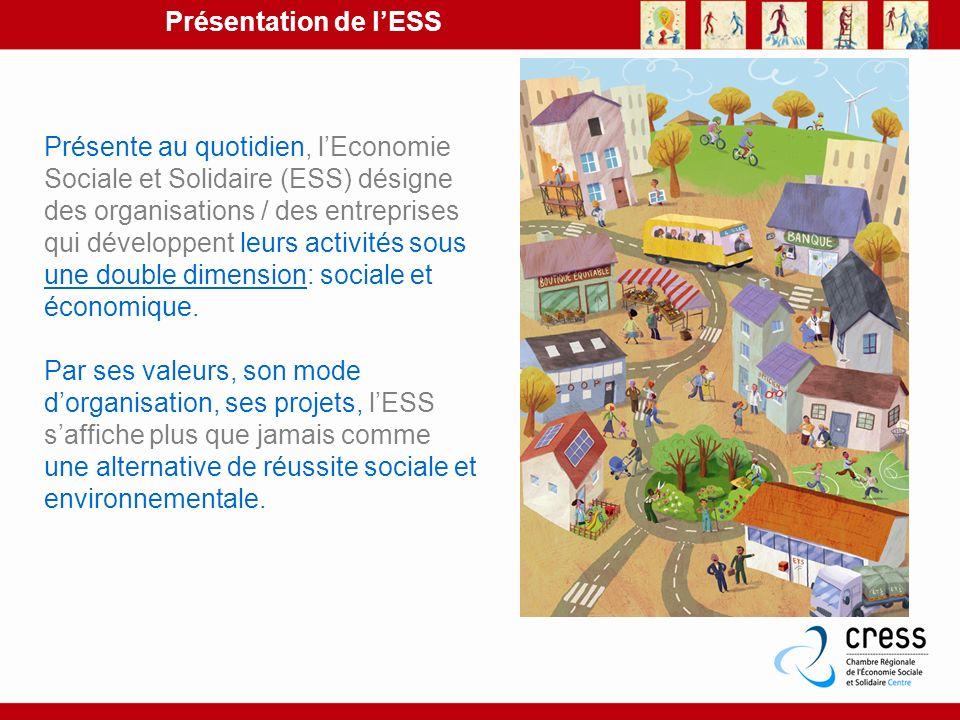 Présente au quotidien, lEconomie Sociale et Solidaire (ESS) désigne des organisations / des entreprises qui développent leurs activités sous une doubl