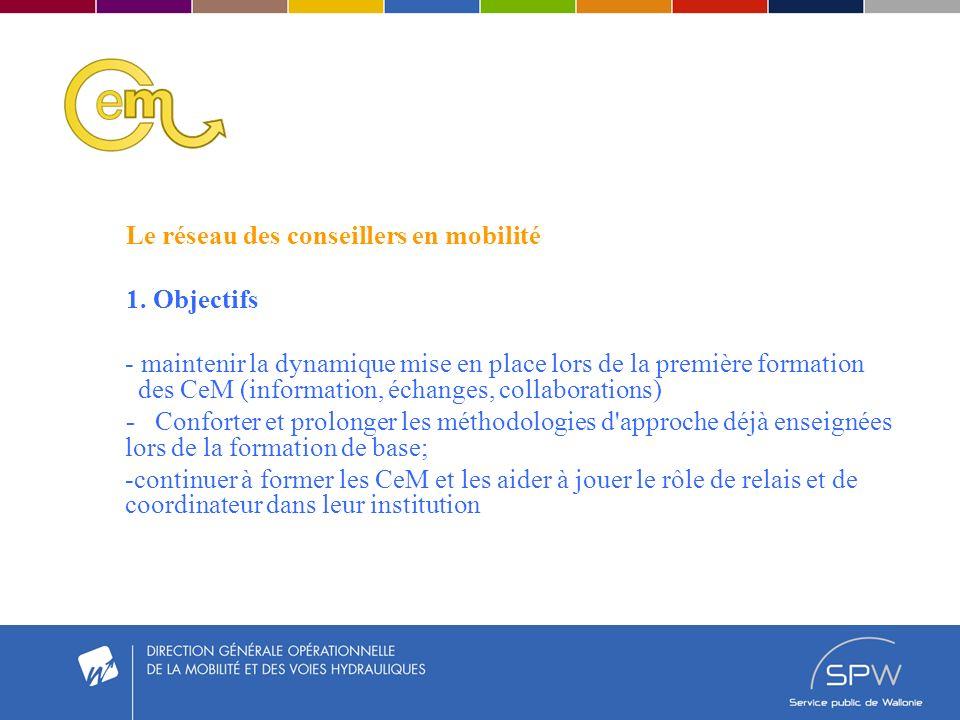 Le réseau des conseillers en mobilité 1.
