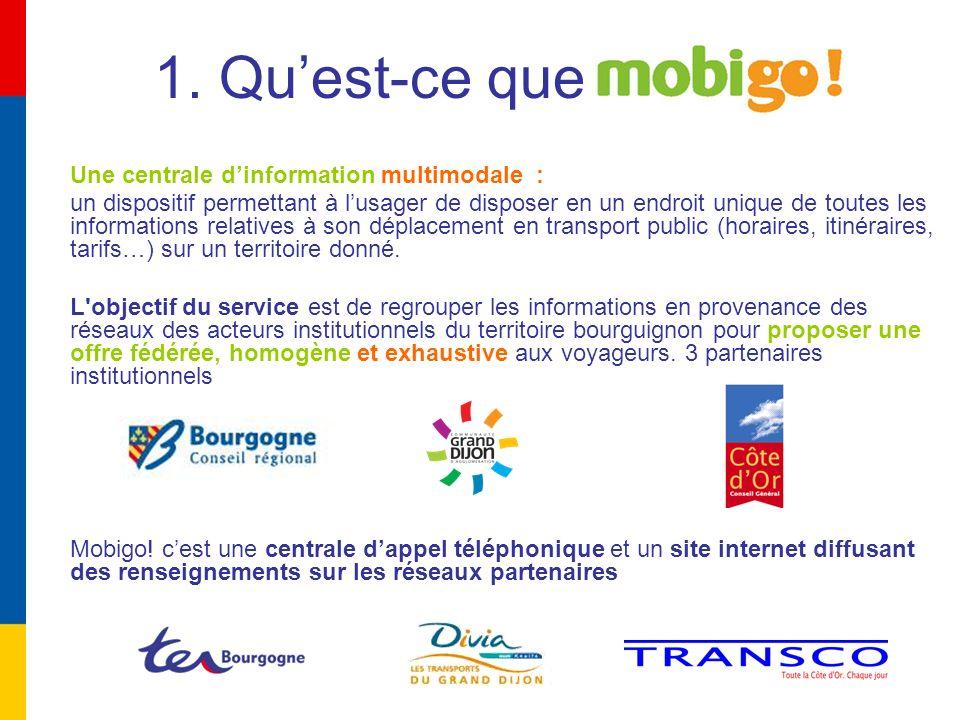 ouvert depuis le 31 Janvier 2007 accessible via le 0800 10 2004 (numéro vert gratuit depuis un poste fixe) disponible du lundi au samedi de 7h00 à 20H00 ou via Internet www.mobigo-bourgogne.frwww.mobigo-bourgogne.fr cest un service…