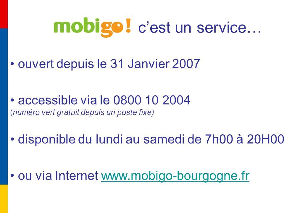 Le site internet www.mobigo.fr : Le site repose sur le calculateur ditinéraire intermodal qui permet de concevoir des trajets monomodaux ou intermodaux, de connaître les heures de départ et les éventuelles perturbations des réseaux bourguignons de transport public de voyageurs.