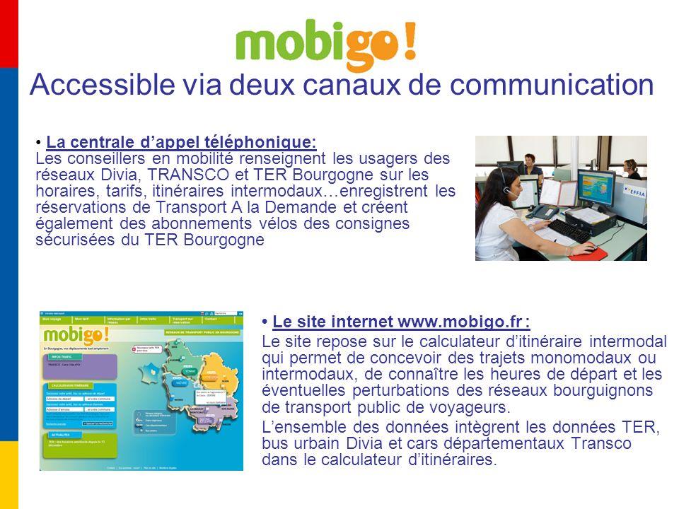 Le site internet www.mobigo.fr : Le site repose sur le calculateur ditinéraire intermodal qui permet de concevoir des trajets monomodaux ou intermodau