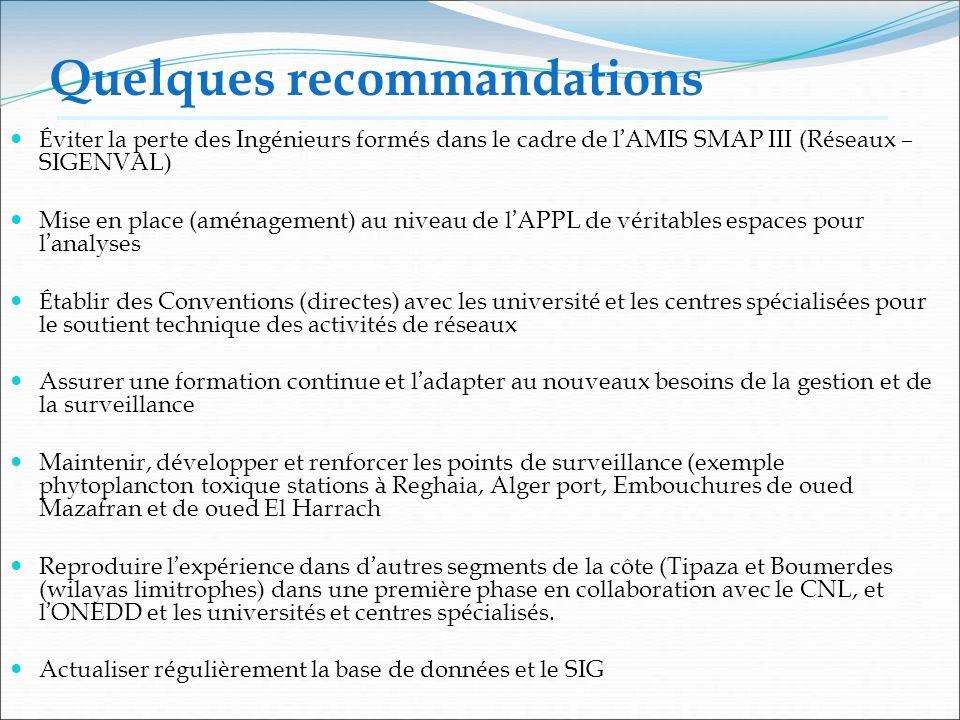 Quelques recommandations É viter la perte des Ing é nieurs form é s dans le cadre de l AMIS SMAP III (R é seaux – SIGENVAL) Mise en place (am é nageme
