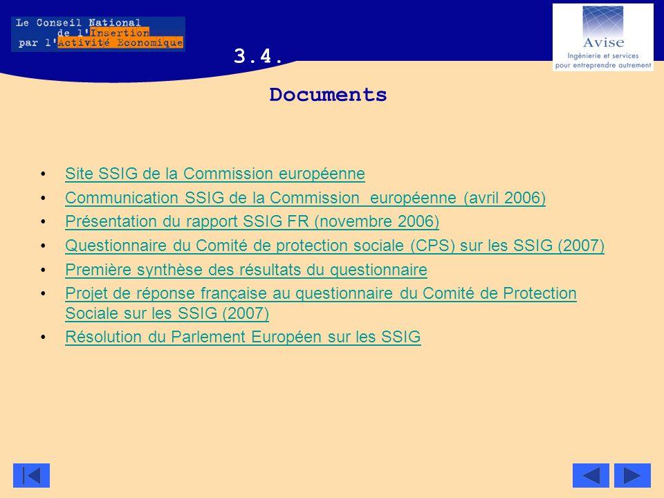 Documents Site SSIG de la Commission européenneSite SSIG de la Commission européenne Communication SSIG de la Commission européenne (avril 2006) Prése