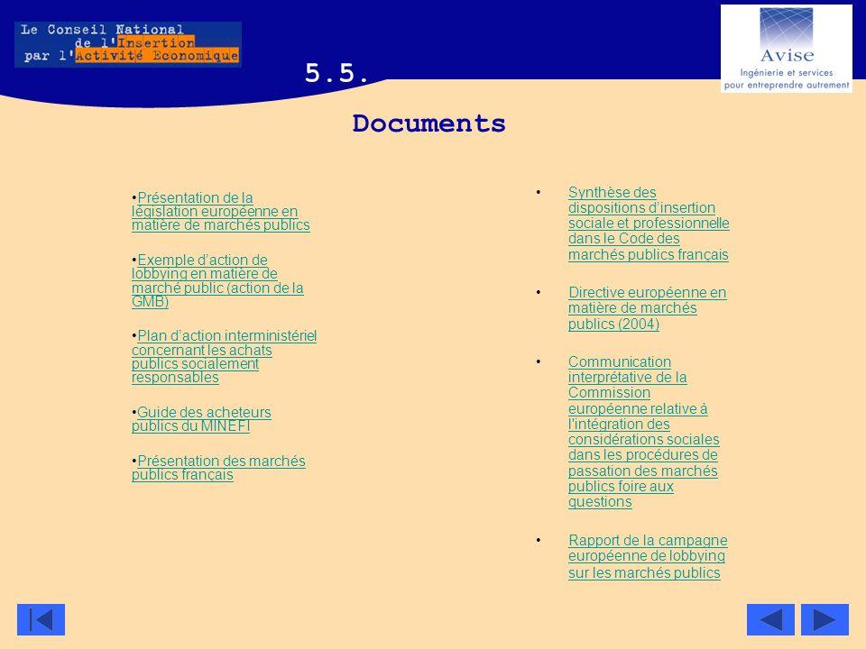Documents Synthèse des dispositions dinsertion sociale et professionnelle dans le Code des marchés publics françaisSynthèse des dispositions dinsertio