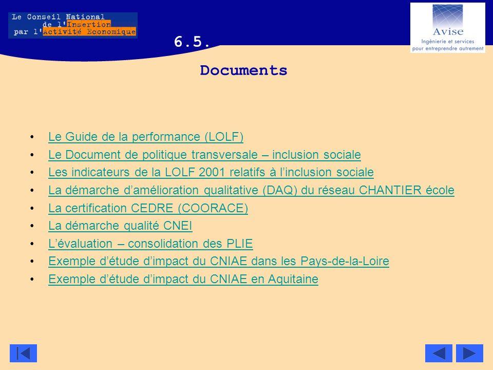 Documents Le Guide de la performance (LOLF) Le Document de politique transversale – inclusion sociale Les indicateurs de la LOLF 2001 relatifs à lincl