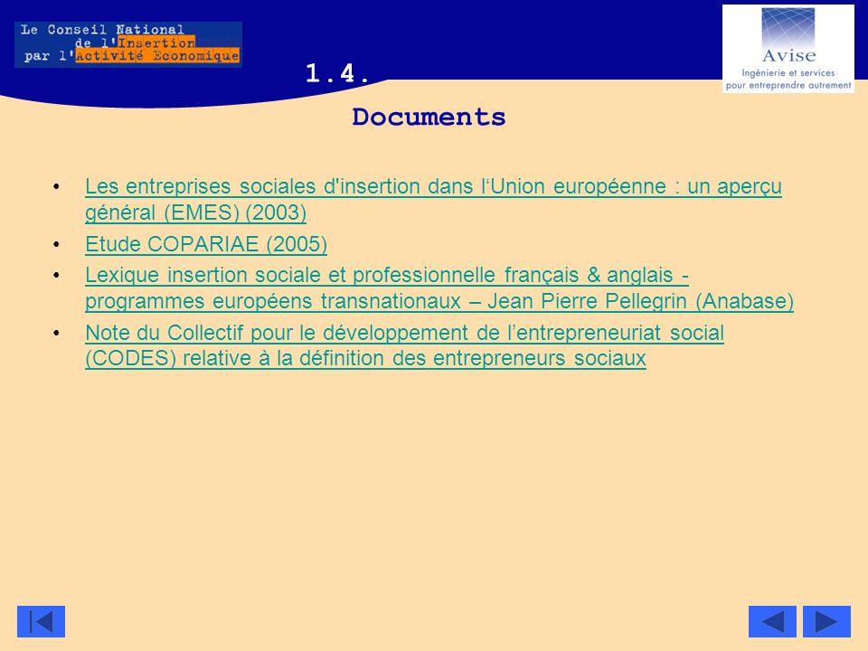 Documents Les entreprises sociales d'insertion dans lUnion européenne : un aperçu général (EMES) (2003)Les entreprises sociales d'insertion dans lUnio