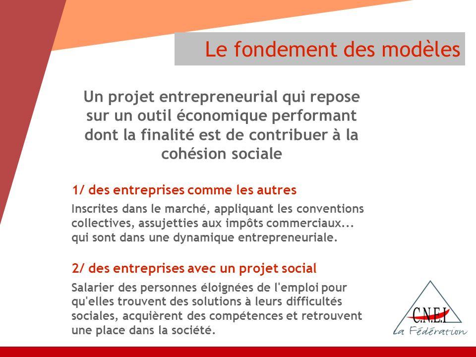 Un projet entrepreneurial qui repose sur un outil économique performant dont la finalité est de contribuer à la cohésion sociale 1/ des entreprises co