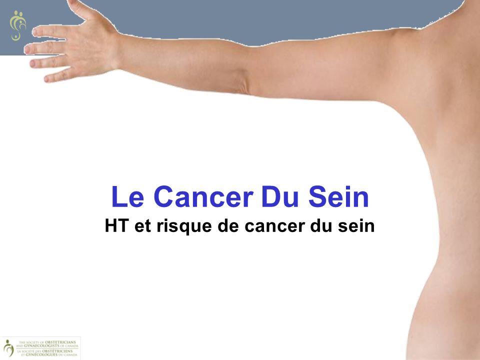 Le Cancer Du Sein HT et risque de cancer du sein