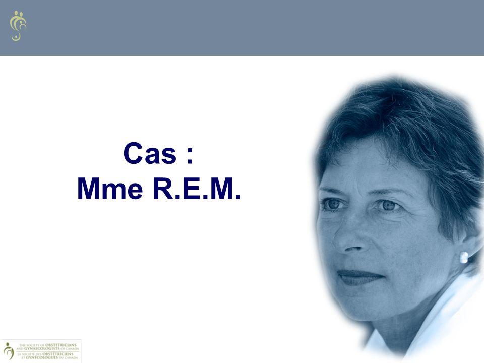 Cas : Mme R.E.M.