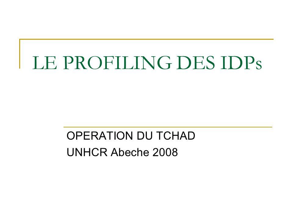 LE PROFILING DES IDPs OPERATION DU TCHAD UNHCR Abeche 2008