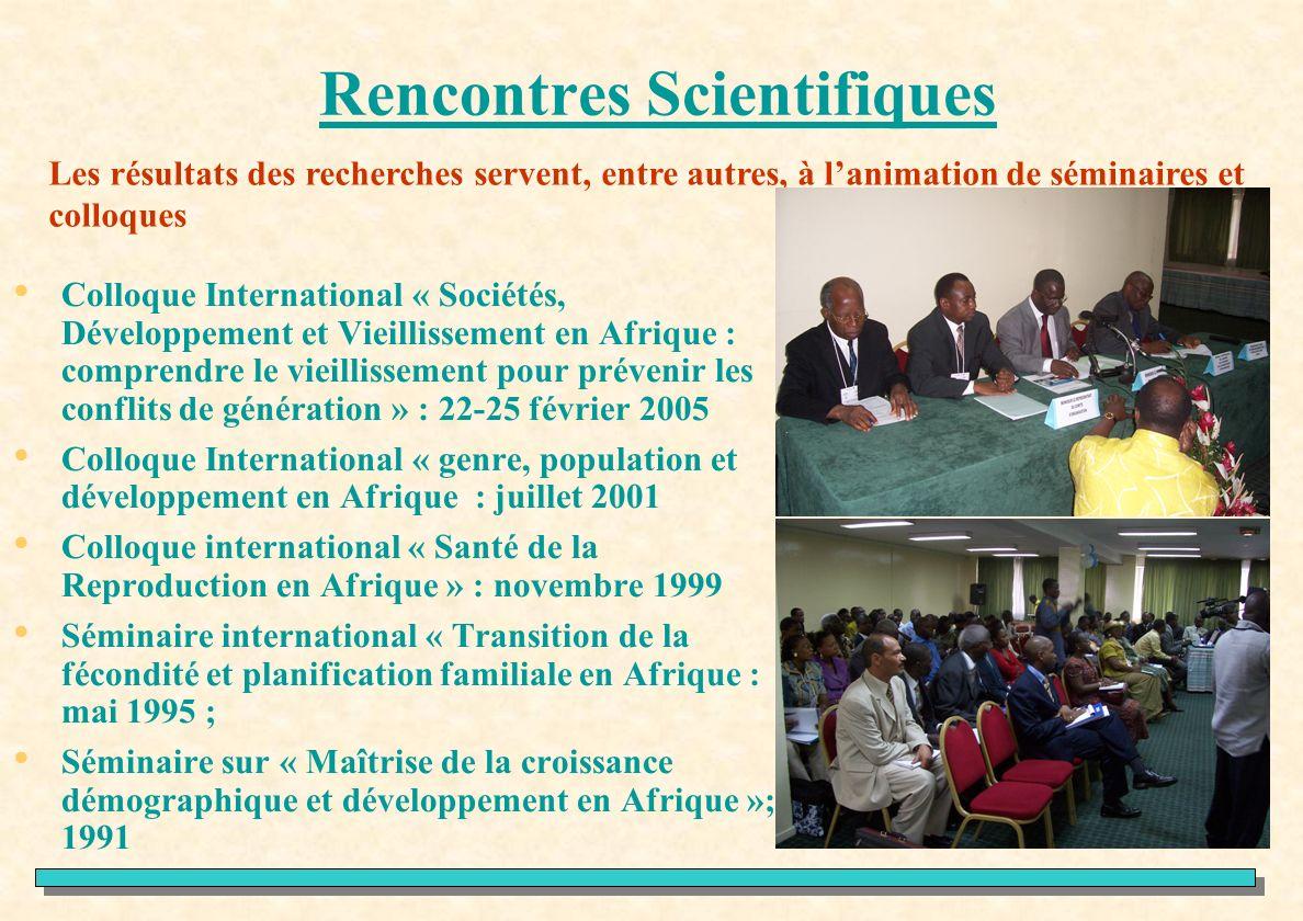 Rencontres Scientifiques Colloque International « Sociétés, Développement et Vieillissement en Afrique : comprendre le vieillissement pour prévenir le