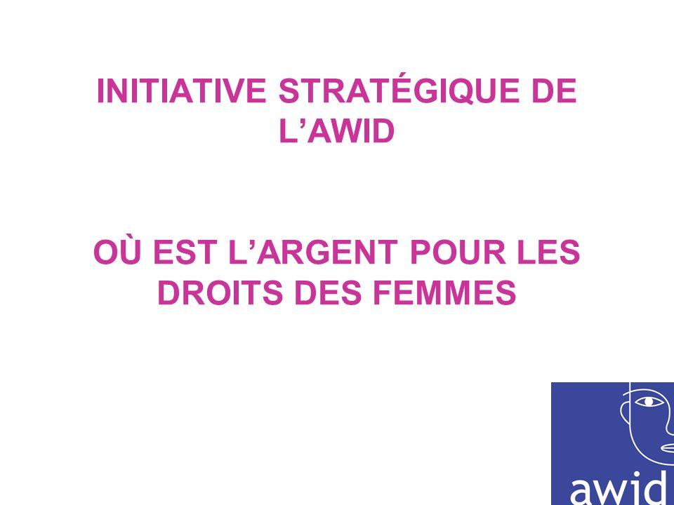 INITIATIVE STRATÉGIQUE DE LAWID OÙ EST LARGENT POUR LES DROITS DES FEMMES