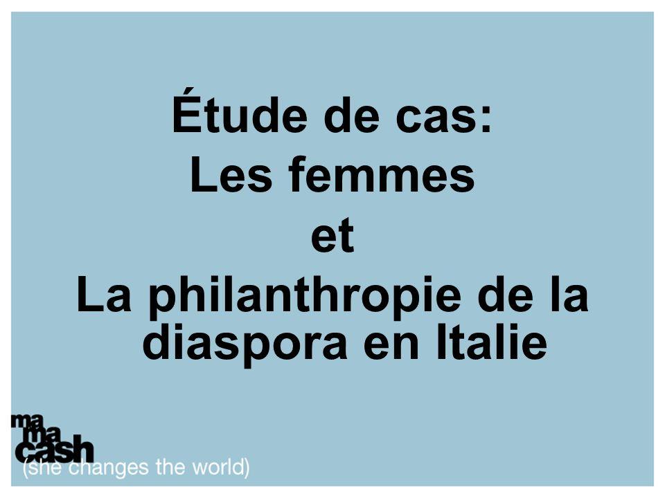 Étude de cas: Les femmes et La philanthropie de la diaspora en Italie