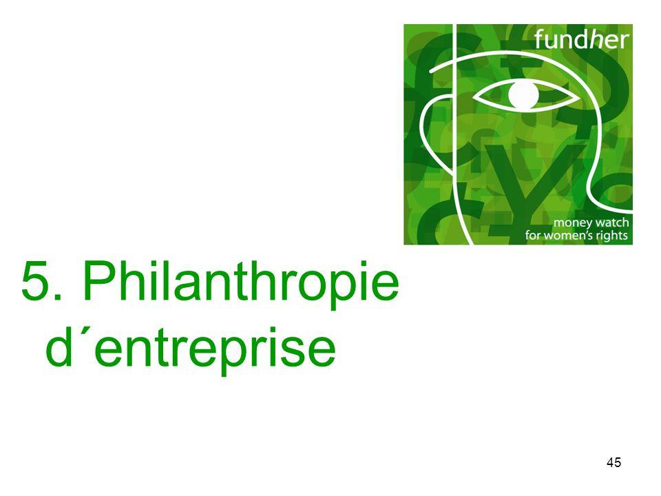 45 5. Philanthropie d´entreprise
