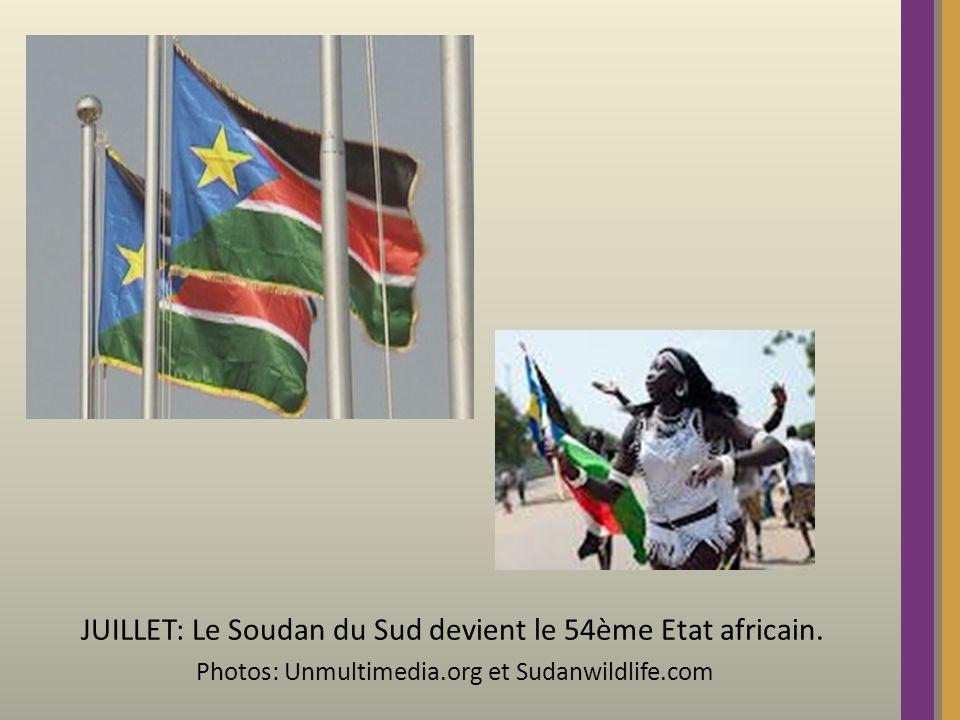 JUILLET: Le Soudan du Sud devient le 54ème Etat africain. Photos: Unmultimedia.org et Sudanwildlife.com