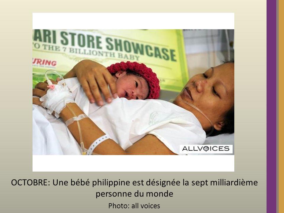 OCTOBRE: Une bébé philippine est désignée la sept milliardième personne du monde Photo: all voices
