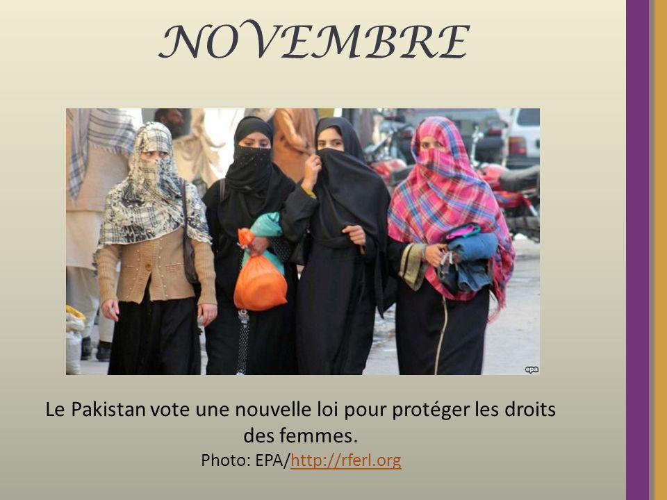 NOVEMBRE Le Pakistan vote une nouvelle loi pour protéger les droits des femmes. Photo: EPA/http://rferl.orghttp://rferl.org
