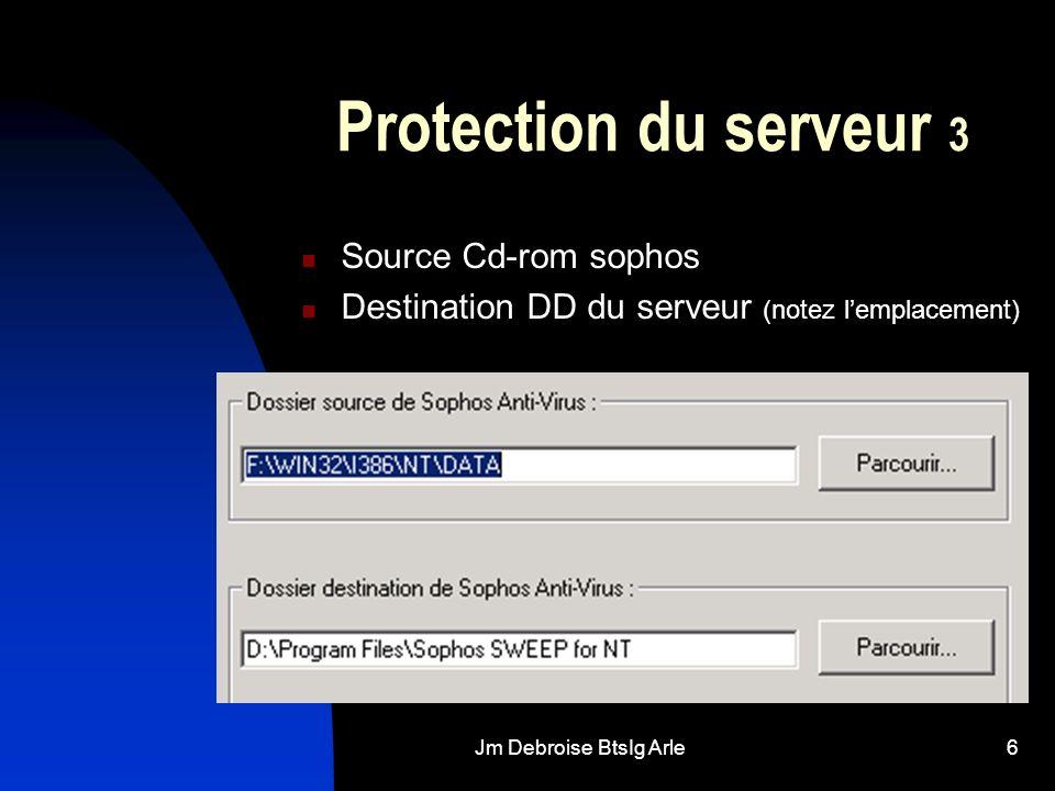 Jm Debroise BtsIg Arle7 Protection du serveur 4 Activation client Activation serveur